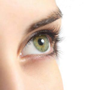Woman's eye staring